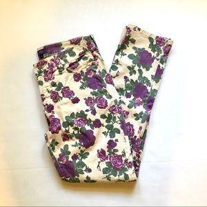 NYDJ Rose Floral Skinny Jeans